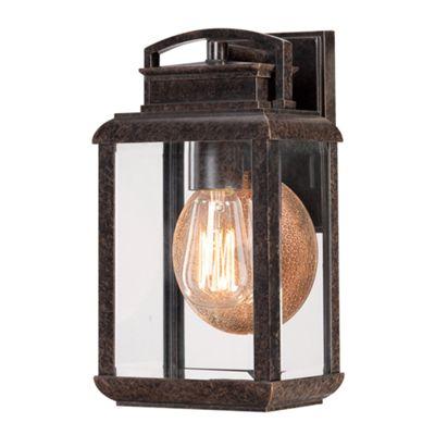 Imperial Bronze Small Wall Lantern - 1 x 100W E27