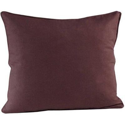 Homescapes Cotton Plain Chocolate Cushion Cover, 60 x 60 cm