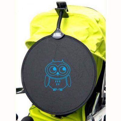 My Buggy Buddy Blue Owl Sun Shade Clip on