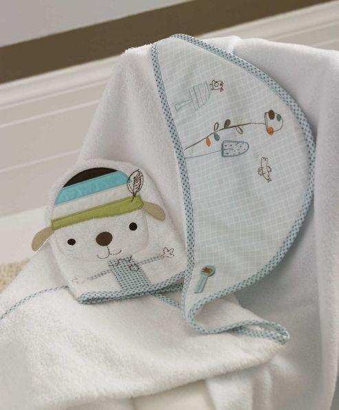 Mamas & Papas - Scrapbook  - Hooded Towel and Mitt