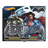 Hot Wheels Batman V Superman Character Car 2-Pack