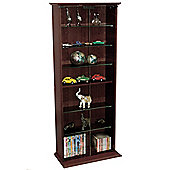 Boston - Dvd/cd Book Storage Shelves Glass / Collectable Display Cabinet - Dark Oak