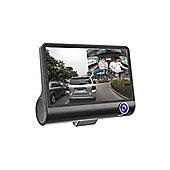 4 Inch 1080P 170 Degree Dual Lens Car DVR Dash Cam G-sensor Recorder + Rear View (Black)Screen Size: 4 inch