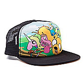 Adventure Time Snapback Truckers Baseball Cap, Black (ba0vjvadv) - Accessories