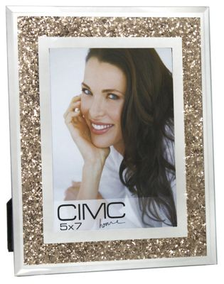 Diamond Crush Gold Photo Frame 5in X 7in