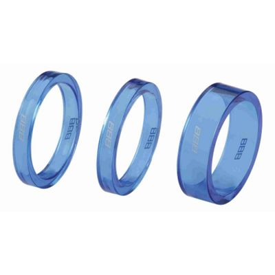 BBB BHP-37 - TransSpace Headset Spacers (Blue)