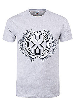 Xavier's School For Gifted Youngsters Grey Men's T-shirt - Silver