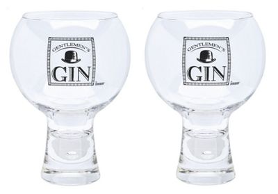 Durobor Altnerato Bubble Gentlemans' Gin Glasses Glass Set of 2