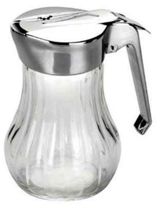 Ibili Glass Spring Loaded Honey Syrup Dispenser