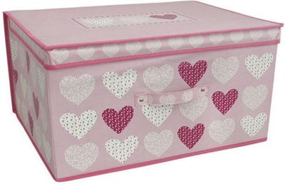 Pink Hearts Jumbo Storage Box