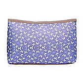 Large Blue Butterfly Print Make Up Bag