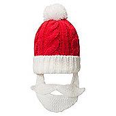 Mountain Warehouse Xmas Santa Beard Beanie - Red