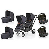 ABC Design 2017 Zoom Tandem, 2x Carrycots & 2x Car Seats (Street)