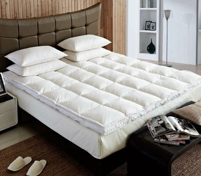 Goose Feather And Down Luxury Mattress Enhancer Bed Topper King Bed