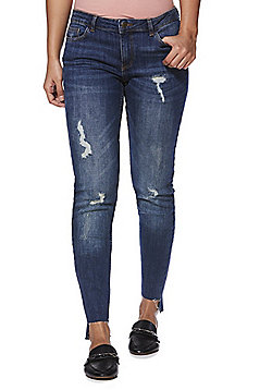 JDY Florence Distressed Skinny Jeans - Mid wash