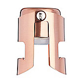 KitchenCraft BarCraft Champagne, Prosecco and Sparkling Wine Stopper in Copper