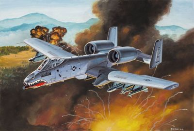 A-10 Thunderbolt II 1:100 Scale Model Kit - Hobbies