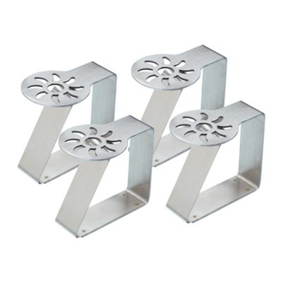 Kitchen Craft Stainless Steel Table Cloth Clips - Sun Pattern