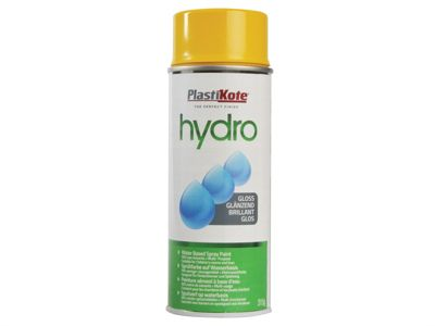 Plasti-kote Hydro Spray Paint Yellow Gloss 350ml