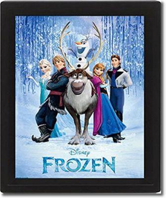 Disney Frozen Framed 3D Bedroom Picture, 26 x 20 cm