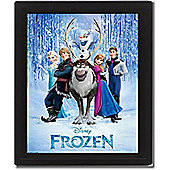 Disney Frozen Framed 3D Bedroom Picture, 26 x 20 cm