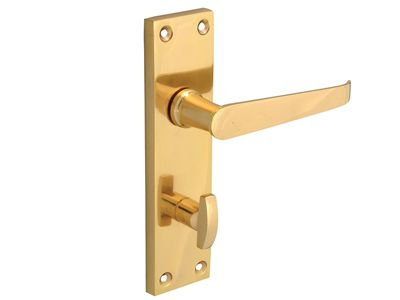 Forge Backplate Handle Bathroom - Straight Victorian Brass Finish 150mm