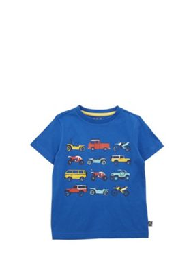 F&F Car Print T-Shirt Blue 12-18 months