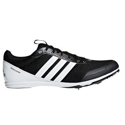 adidas Distancestar Running Spike Trainer Shoe Black/White - UK 7.5