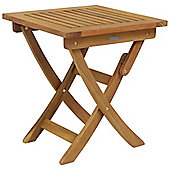 Charles Bentley FSC Hardwood Square Foldable Patio Table
