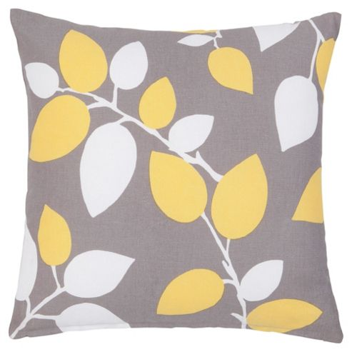F&F Home Modern Country Leaf Cushion
