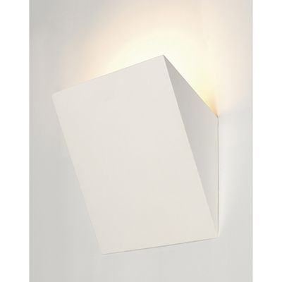 Plastra Wall Lamp Light Torch White Plaster Max. 11W