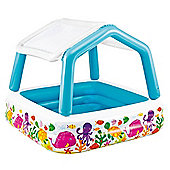 Intex Childrens Paddling Garden Pool with Sun-Shade/Canopy
