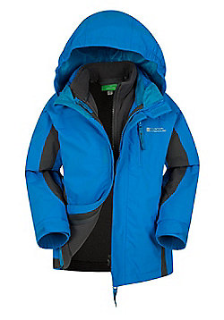 Mountain Warehouse Boys Waterproof Fabric 3In1 Taped Seams & Elasticated Cuffs - Turquoise