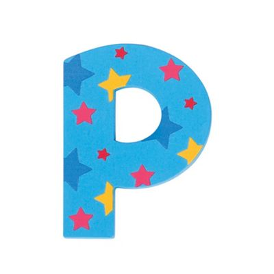 Bigjigs Toys Star Letter P (Blue)