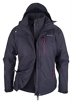 Mountain Warehouse Apex Extreme Womens 3 in 1 Waterproof Jacket - Grey