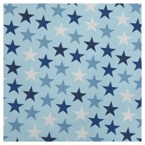 Tesco Stars Wrapping Paper, Blue & Silver, 2m