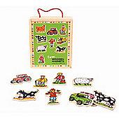 Bigjigs Toys Wooden Farm Magnets