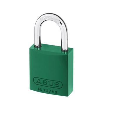 72/40 40mm Aluminium Padlock Green Keyed TT00590