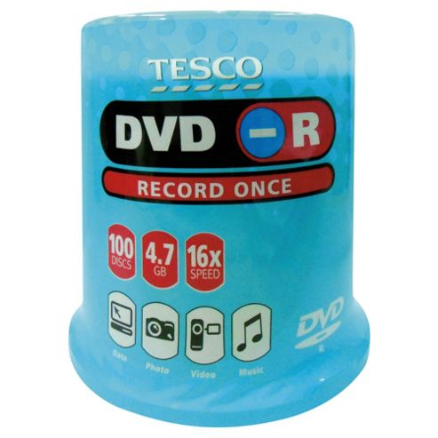 Tesco DVD-R 100 Disc Spindle Pack
