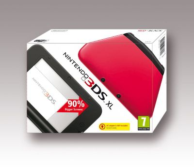 Nintendo 3DS XL Black & Red