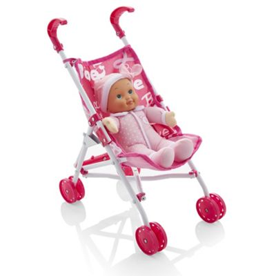 Bambolina My First Stroller & Doll Set