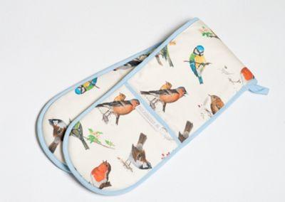 Roy Kirkham Garden Birds Double Oven Glove