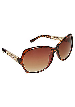 F&F Oversized Oval Sunglasses - Brown