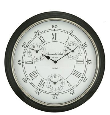 Nickel World Time Zone Wall Clock