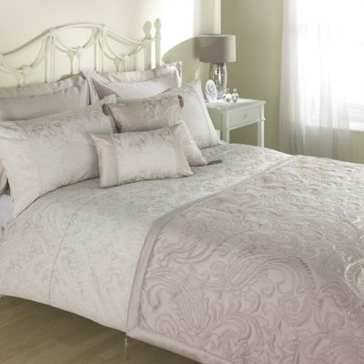 Julian Charles Paisley Natural Jacquard Duvet Cover - Single