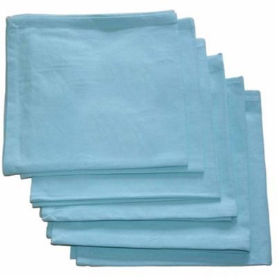 Homescapes Blue Cotton Fabric 4 Napkins Set