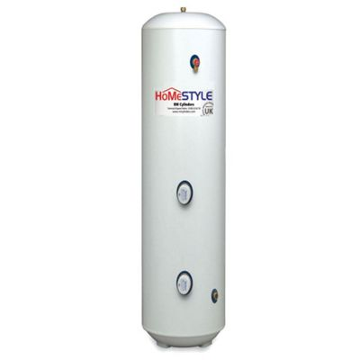 HomeStyle Slimline Unvented Stainless Steel Cylinder, Direct, 90 Litres