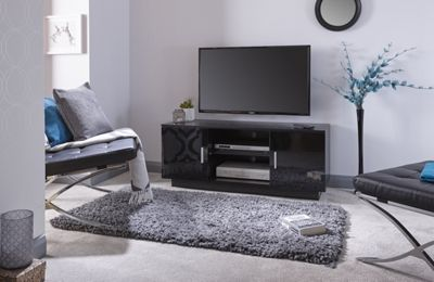 Lima High Gloss Tv Unit Black