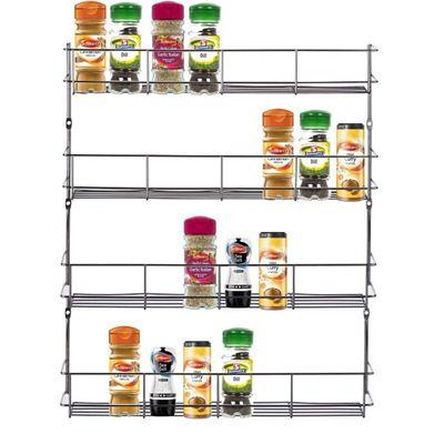 Chrome 4 Tier 32 Jars Spice Herb Jar Rack