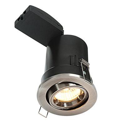 Shield Plus Tilt 50W Light Recessed Satin Nickel Plate